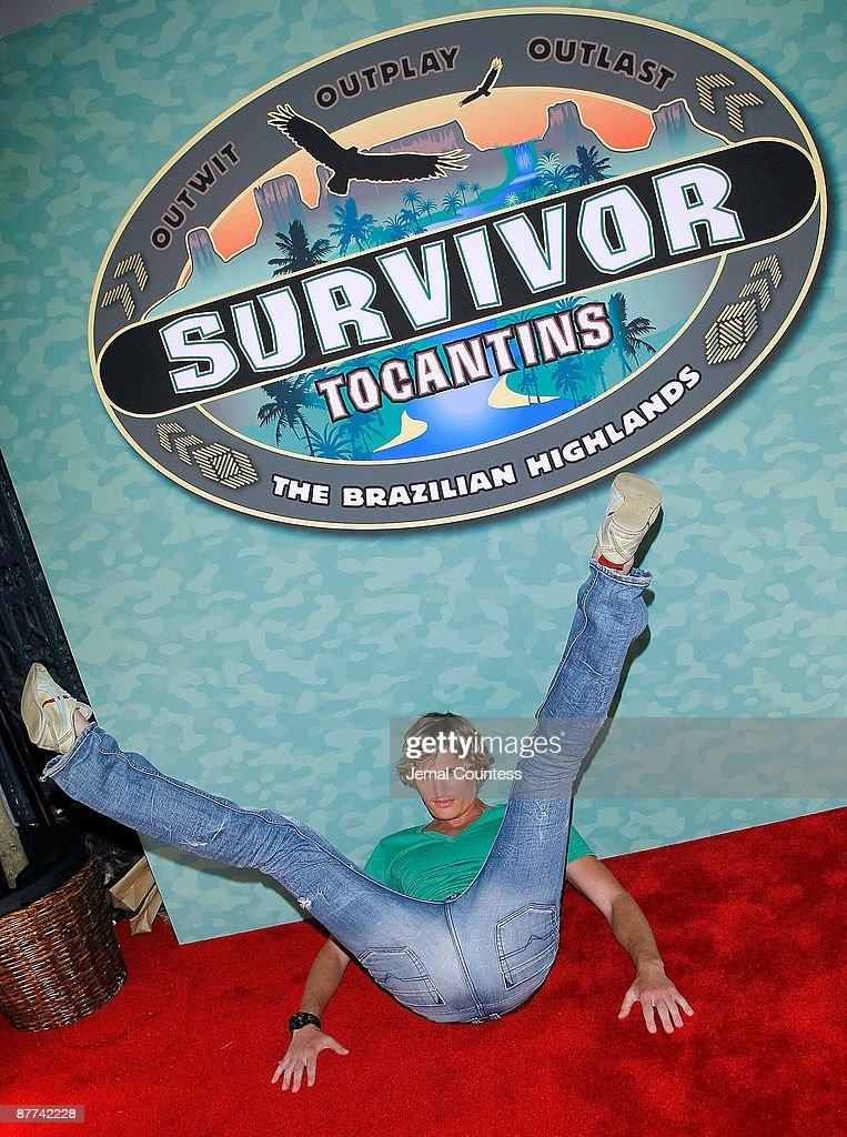Survivor season 18 contestant Tyson Apostol attends the finale of CBS's 'Survivor Tocantins The Brazilian Highlands' at the Ed Sullivan Theater on...