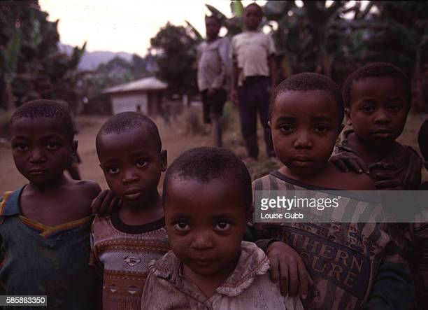 Survivors of the 1986 toxic Carbon Dioxide Gas tragedy at Lake Nyos village were resettled by the government at Bwa Bwa Here children of the...