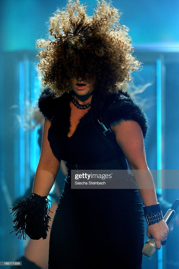 Susan Albers performs during the rehearsal of the third 'Deutschland Sucht Den Superstar' Show at Coloneum on March 30, 2013 in Cologne, Germany.