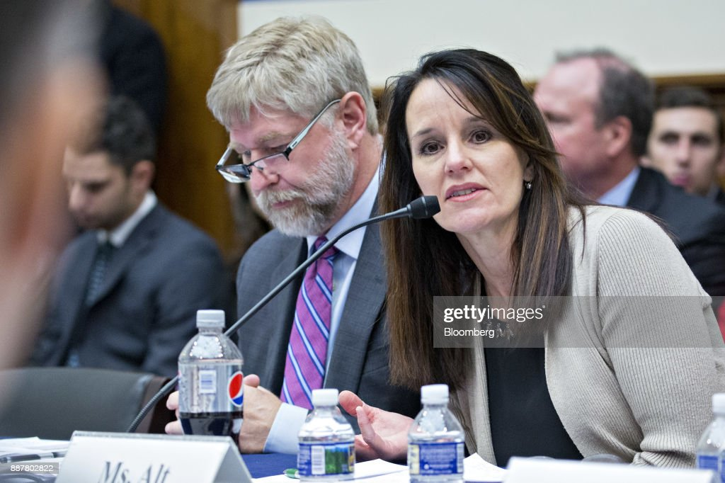 Susan Alt, senior vice president of public affairs at Volvo Group North America Inc., speaks during a House Highways and Transit Subcommittee roundtable discussion in Washington, D.C., U.S., on Thursday, Dec. 7, 2017. The roundtable focused on emerging technologies being utilized or explored in the trucking industry. Photographer: Andrew Harrer/Bloomberg via Getty Images