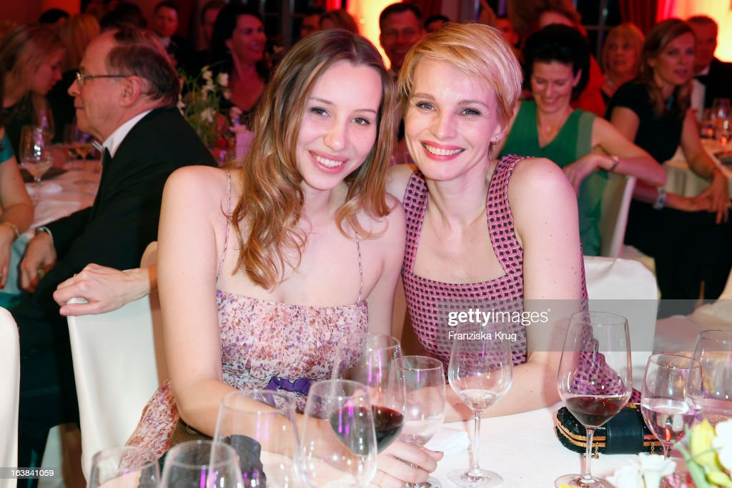 Susan Atwell and her daughter Emma attend the Gala Spa Award 2013 at the Brenners Park Hotel on March 16, 2013 in Berlin, Germany.