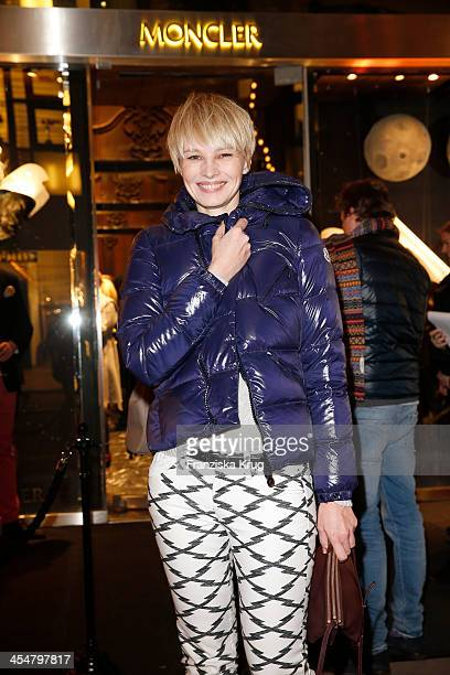 Susan Atwell attends the Moncler Boutique Opening on December 10 2013 in Hamburg Germany
