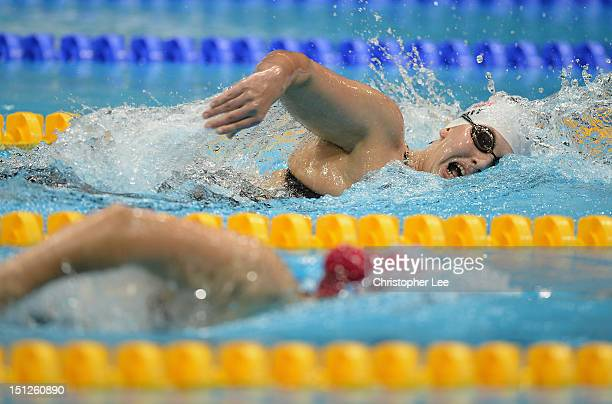 Susan Beth Scott of USA in the Womens 400m Freestyle S10 race on day 7 of the London 2012 Paralympic Games at Aquatics Centre on September 5 2012 in...