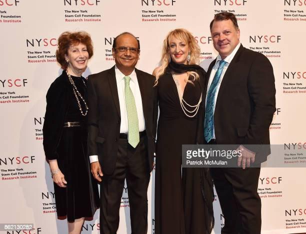 Susan Blond Mak Jawadekar Kimberly Deventer and Stephen Van Deventer attend the NYSCF Gala Science Fair at Jazz at Lincoln Center on October 16 2017...