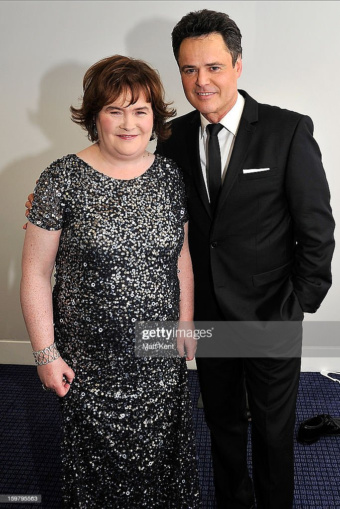 <a gi-track='captionPersonalityLinkClicked' href=/galleries/search?phrase=Susan+Boyle&family=editorial&specificpeople=5810021 ng-click='$event.stopPropagation()'>Susan Boyle</a> (L) and <a gi-track='captionPersonalityLinkClicked' href=/galleries/search?phrase=Donny+Osmond&family=editorial&specificpeople=214564 ng-click='$event.stopPropagation()'>Donny Osmond</a> pose backstage at the Donny and Marie Osmond concert at the 02 Arena on January 20, 2013 in London, England.