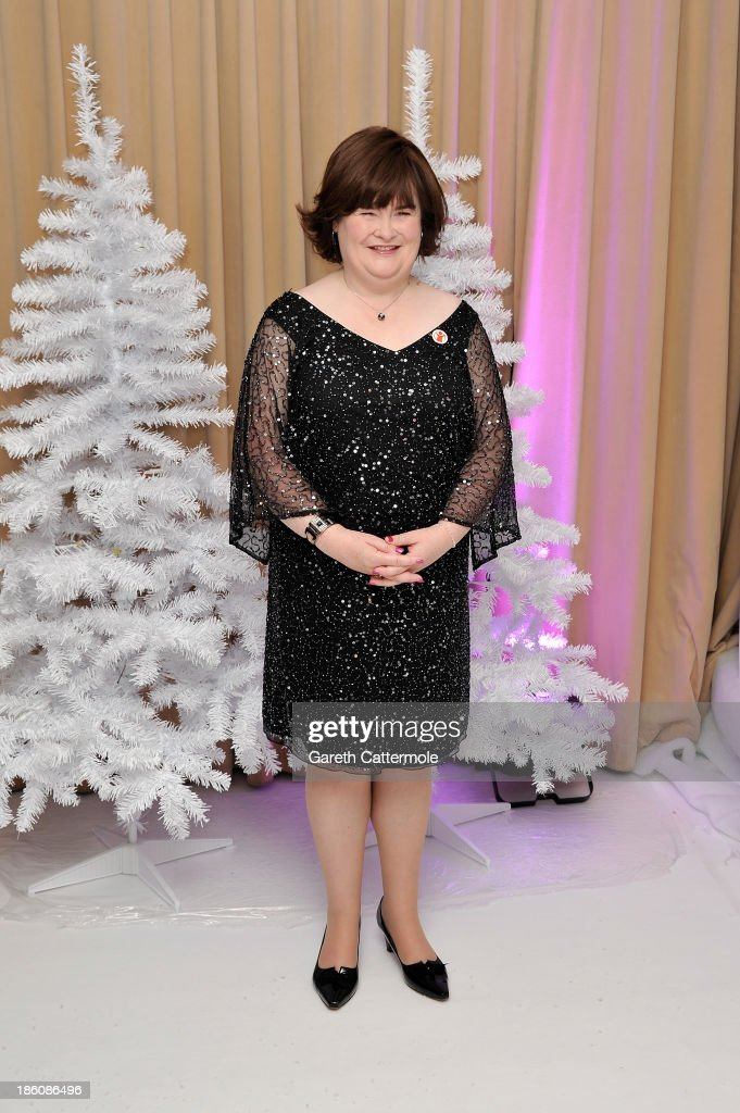 Susan Boyle attends a photocall to announce a charity single for Save The Children at Sony Music on October 28, 2013 in London, England.