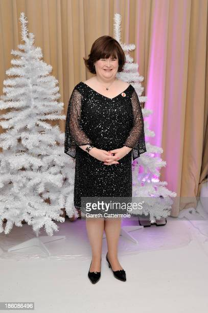 Susan Boyle attends a photocall to announce a charity single for Save The Children at Sony Music on October 28 2013 in London England