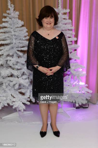 Susan Boyle attends a photocall to announce a Christmas charity single for Save The Children at Sony Music on October 28 2013 in London England
