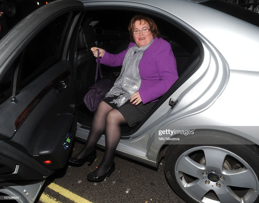<a gi-track='captionPersonalityLinkClicked' href=/galleries/search?phrase=Susan+Boyle&family=editorial&specificpeople=5810021 ng-click='$event.stopPropagation()'>Susan Boyle</a> attends Dirty Dancing Musical at Aldwych Theatre on November 20, 2010 in London, England.