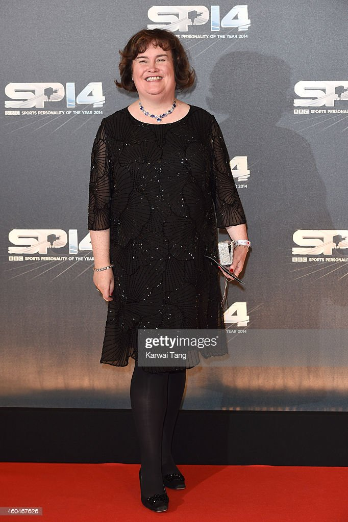 <a gi-track='captionPersonalityLinkClicked' href=/galleries/search?phrase=Susan+Boyle&family=editorial&specificpeople=5810021 ng-click='$event.stopPropagation()'>Susan Boyle</a> attends the BBC Sports Personality of the Year awards at The Hydro on December 14, 2014 in Glasgow, Scotland.