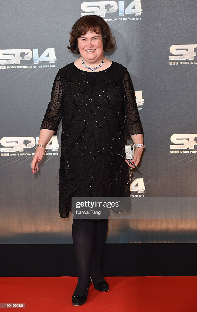 Susan Boyle attends the BBC Sports Personality of the Year awards at The Hydro on December 14 2014 in Glasgow Scotland