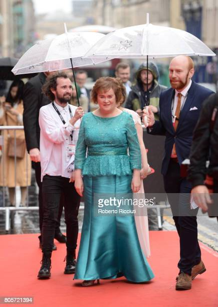 Susan Boyle attends the world premiere for 'England is mine' and closing event of the 71st Edinburgh International Film Festival at Festival Theatre...