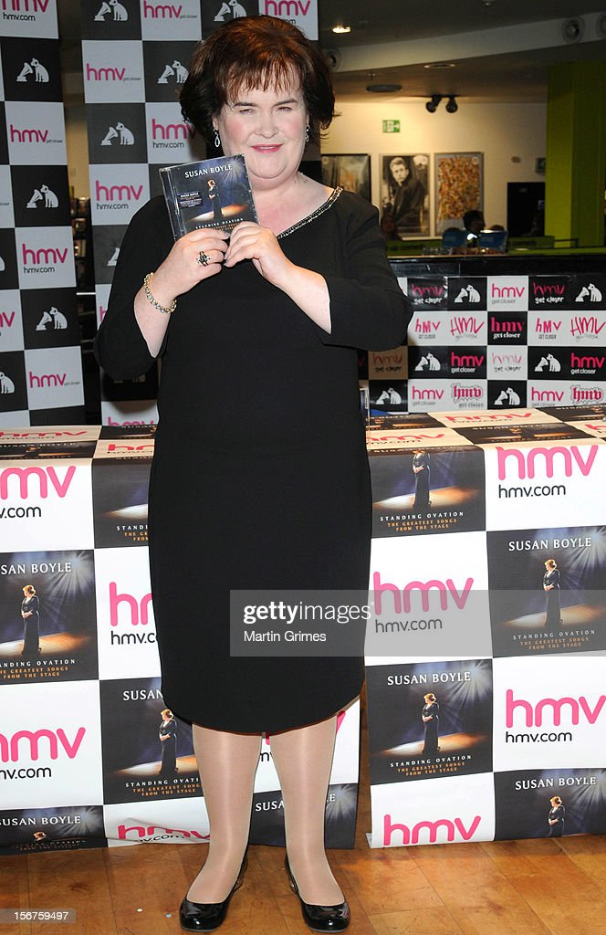 Susan Boyle meets fans and signs copies of her new album 'Standing Ovation' at HMV on November 20, 2012 in Glasgow, Scotland.