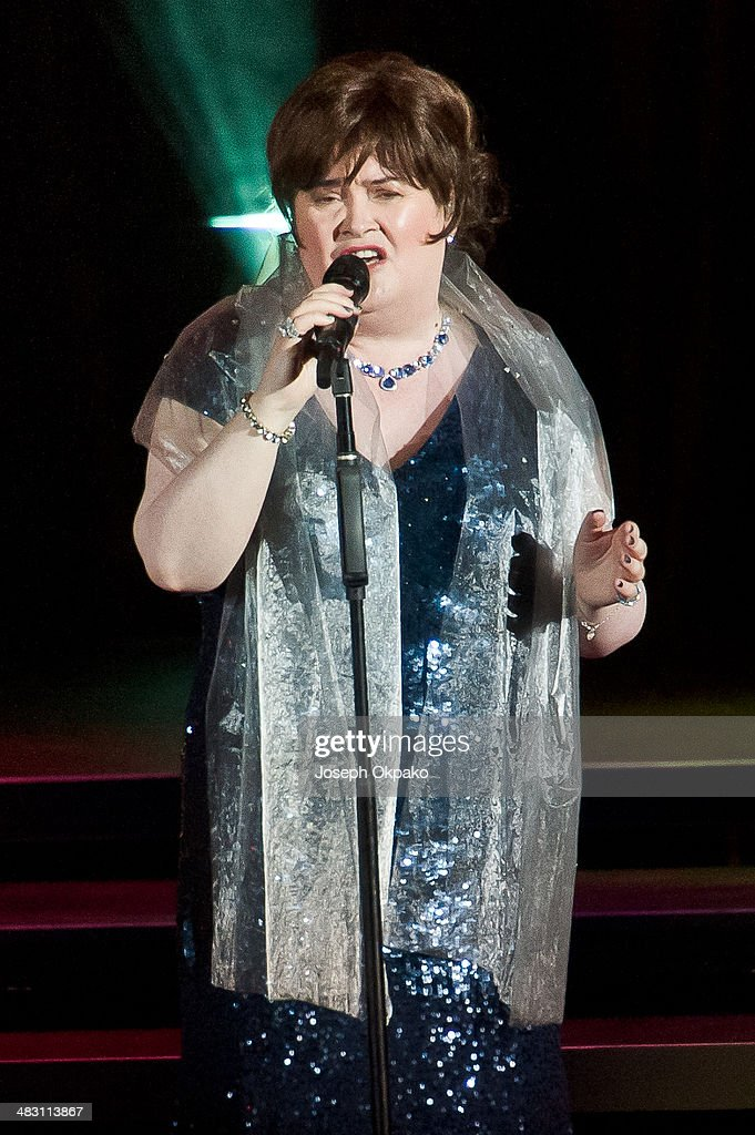 <a gi-track='captionPersonalityLinkClicked' href=/galleries/search?phrase=Susan+Boyle&family=editorial&specificpeople=5810021 ng-click='$event.stopPropagation()'>Susan Boyle</a> performs at Eventim Apollo, Hammersmith on April 6, 2014 in London, England.