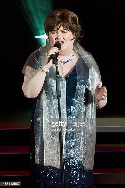Susan Boyle performs at Eventim Apollo Hammersmith on April 6 2014 in London England