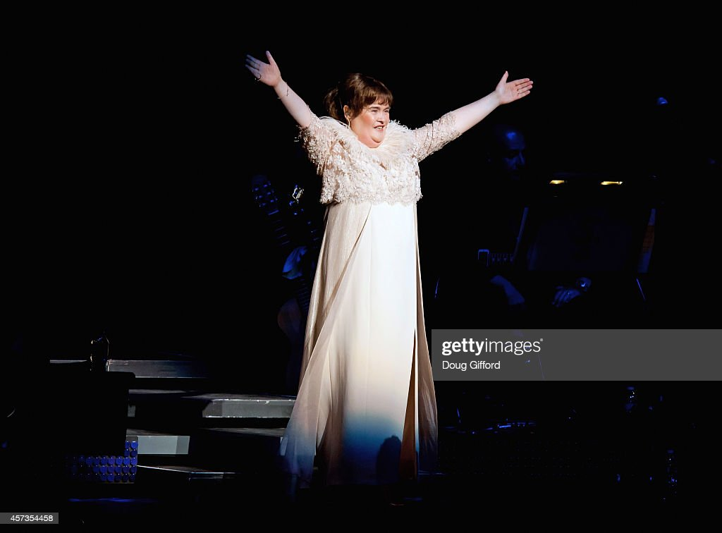 Susan Boyle performs at Segerstrom Center For The Arts on October 16 2014 in Costa Mesa California