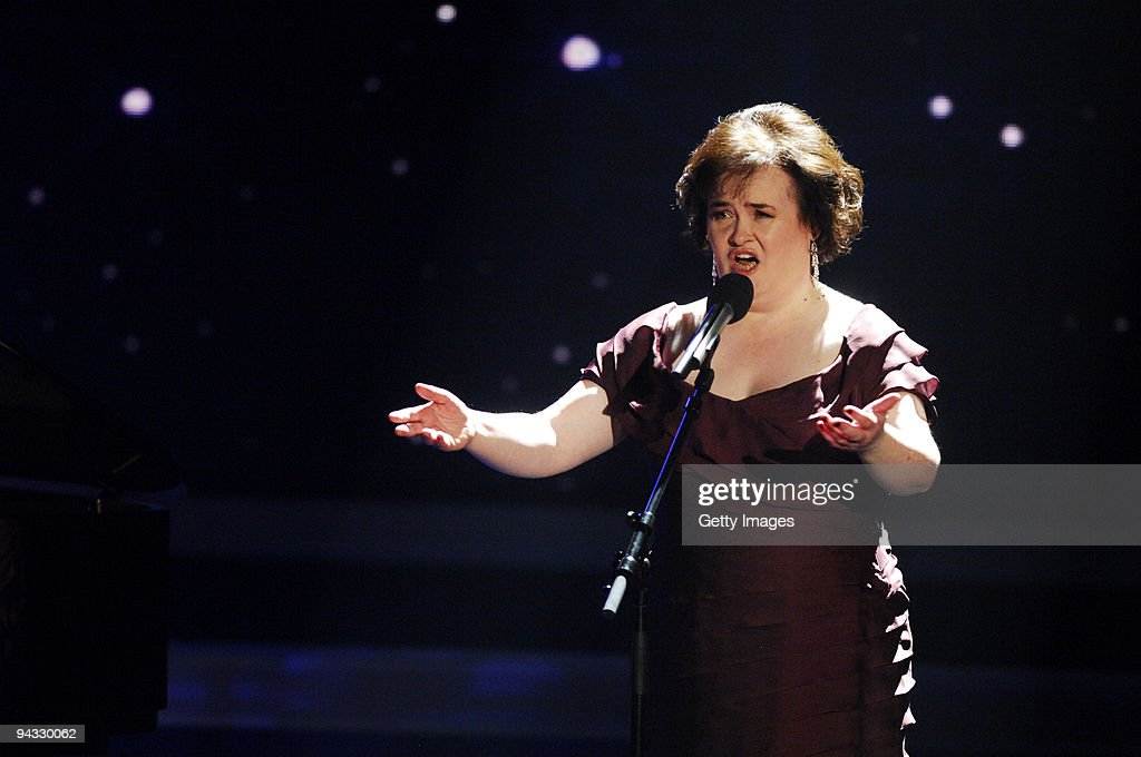 <a gi-track='captionPersonalityLinkClicked' href=/galleries/search?phrase=Susan+Boyle&family=editorial&specificpeople=5810021 ng-click='$event.stopPropagation()'>Susan Boyle</a> performs during the 3rd semi final of the TV show 'Das Supertalent' on December 12, 2009 in Cologne, Germany.