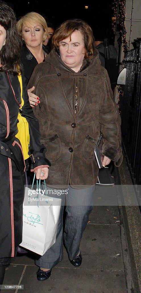 Susan Boyle sighting at Palladium on December 9 2010 in London England