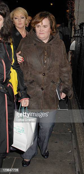 Susan Boyle sighting at Palladium on December 9 2010 in London England