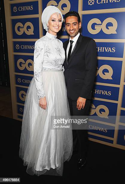 Susan Carland and Waleed Ali arrive ahead of the 2015 GQ Men Of The Year Awards on November 10 2015 in Sydney Australia