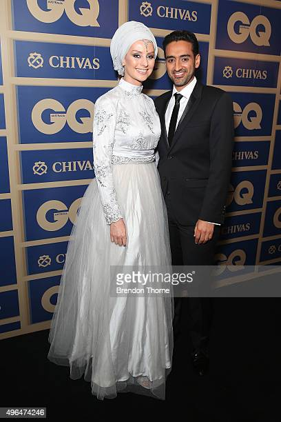 Susan Carland and Waleed Aly arrives ahead of the 2015 GQ Men Of The Year Awards on November 10 2015 in Sydney Australia