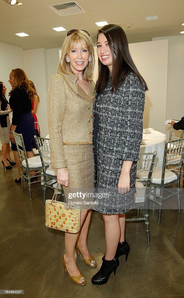 Susan Casden and Alissa Fung attend Saks Fifth Avenue presents designer Ralph Rucci at Saks Fifth Avenue Beverly Hills on March 22, 2013 in Beverly Hills, California.