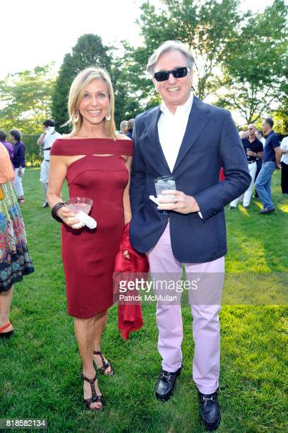 Susan Chalom and Geoffrey Bradfield attend GODS LOVE WE DELIVERMid Summer Night Drinks Benefit at Home of Chad A Leat on June 19 2010 in...