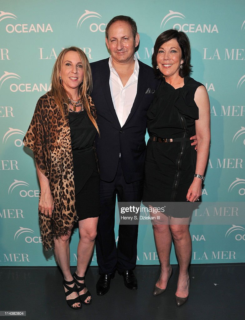Susan Cohn Rockefeller, John Dempsey and President of La Mer Maureen Case attend World Ocean Day 2011 celebrated by La Mer and Oceana at Affirmation Arts on May 18, 2011 in New York City.