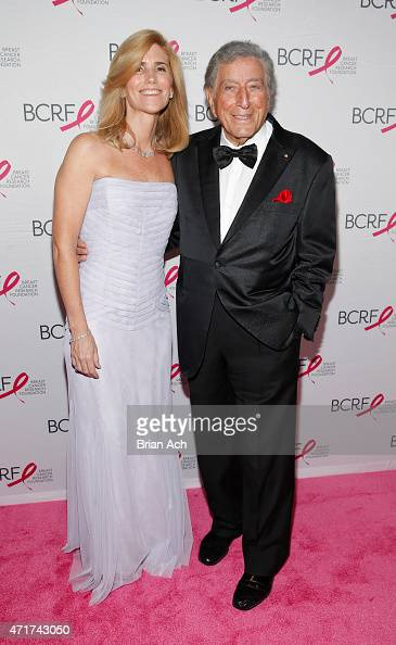 Susan Crow and Tony Bennett are seen during the The Breast Cancer Research Foundation 2015 Pink Carpet Party at The WaldorfAstoria on April 30 2015...