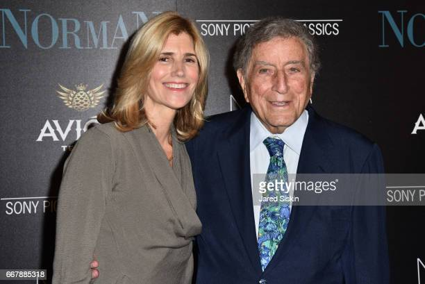 Susan Crow and Tony Bennett attend The Cinema Society with NARS AVION host a screening of Sony Pictures Classics' 'Norman' at the Whitby Hotel on...