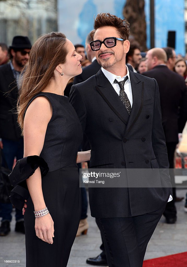<a gi-track='captionPersonalityLinkClicked' href=/galleries/search?phrase=Susan+Downey&family=editorial&specificpeople=3997153 ng-click='$event.stopPropagation()'>Susan Downey</a> and Robert Downey Jr attends a special screening of 'Iron Man 3' at Odeon Leicester Square on April 18, 2013 in London, England.