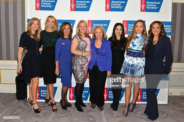 Susan Drossman Paula Zahn Rosanna Scotto Monica Kennedy Marion Scotto Jenna Ruggiero Julia Faucetta and Elaina Scotto attend American Cancer...