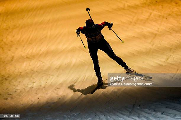 Susan Dunklee of USA takes 3rd place during the IBU Biathlon World Cup Women's Sprint on December 16 2016 in Nove Mesto na Morave Czech Republic