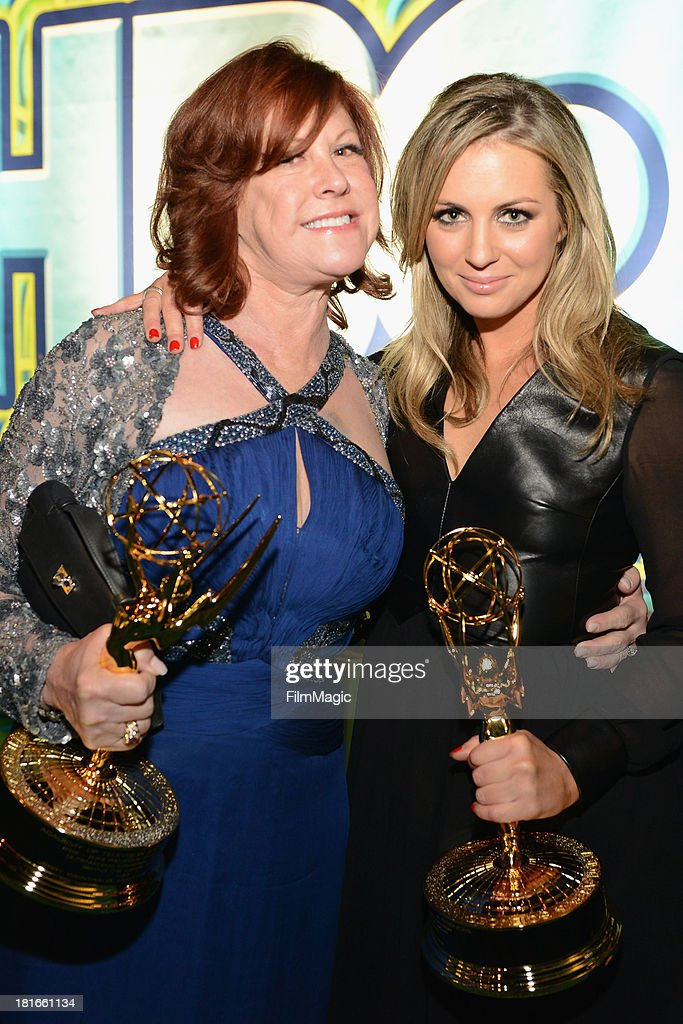 Susan Ekins and Jody Weintraub attend HBO's official Emmy after party at The Plaza at the Pacific Design Center on September 22, 2013 in Los Angeles, California.
