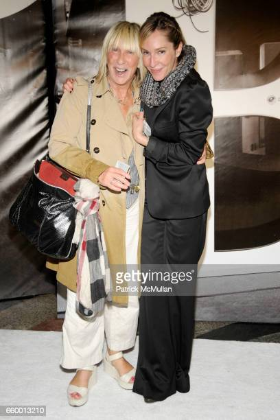 Susan Flynn and Lauryn Flynn attend BURBERRY Lights Up NYC Skyline For First Time on 'BURBERRY DAY' at The New York Palace Hotel on May 28 2009 in...