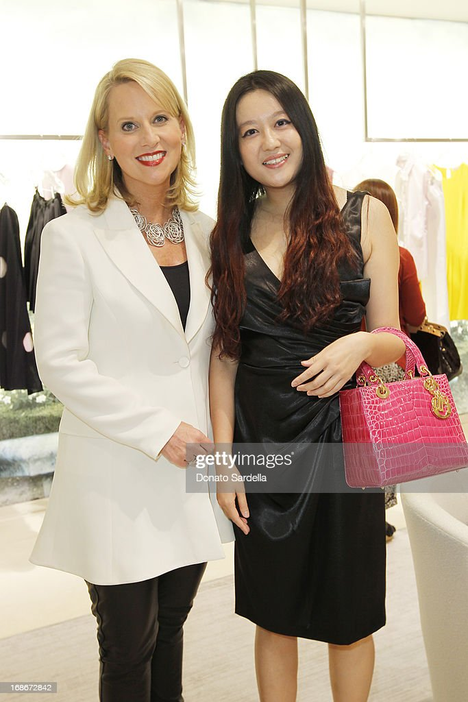 Susan Franklin and Jing Tian attend Dior celebrates the opening of Dior Couture Patrick Demarchelier Exhibition at the Dior store at South Coast Plaza May 10, 2013 in Costa Mesa, California.