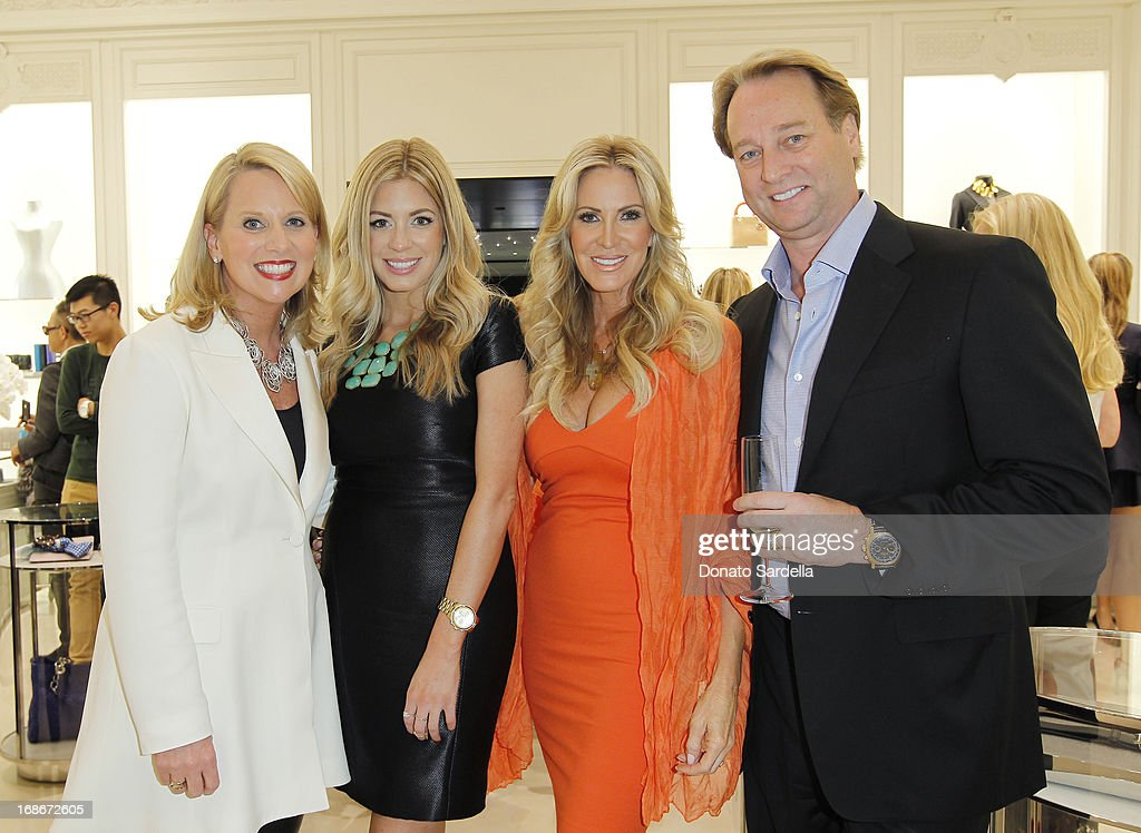 Susan Franklin, Ashley Zarlin, Lauri Peterson and George Peterson attend Dior celebrates the opening of Dior Couture Patrick Demarchelier Exhibition at the Dior store at South Coast Plaza May 10, 2013 in Costa Mesa, California.