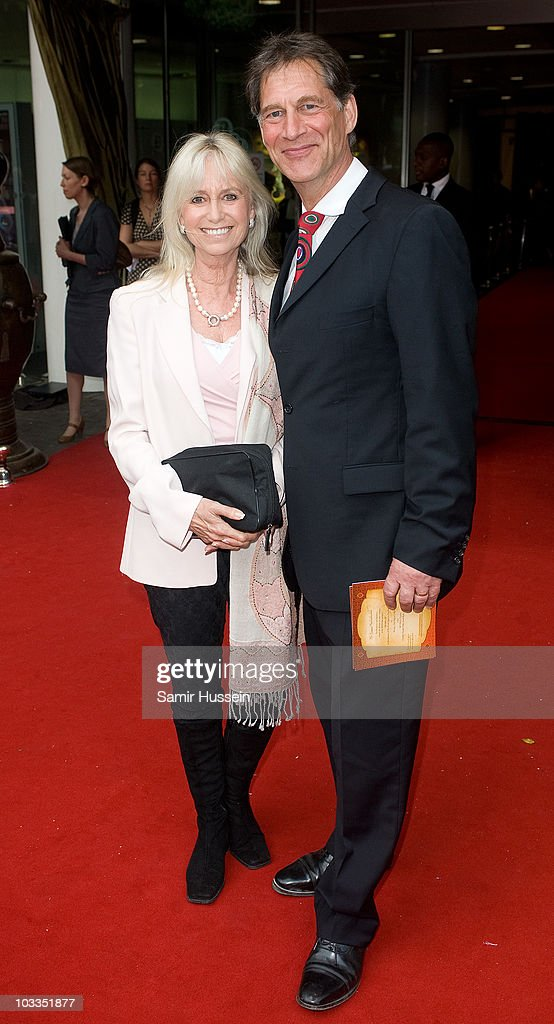 Susan George and husband Simon MacCorkindale attend the Royal Premiere of Arabia 3D at London IMAX on May 24, 2010 in London, England.