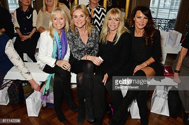 Susan George Anthea Turner Jo Wood and Lizzie Cundy attend the first Fifty Plus Fashion Week hosted by JD Williams at Cafe Royal on February 18 2016...