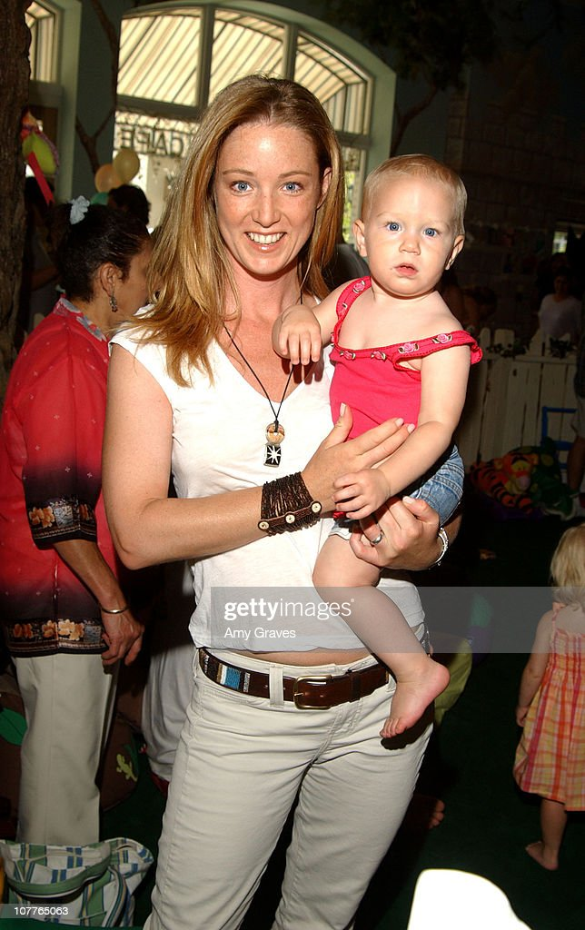 <a gi-track='captionPersonalityLinkClicked' href=/galleries/search?phrase=Susan+Haskell&family=editorial&specificpeople=5040821 ng-click='$event.stopPropagation()'>Susan Haskell</a> and daughter McKenna during Connie Stevens, Joely Fisher and Tricia Leigh Fisher Open Nana's Garden at Nana's Garden in Beverly Hills, California, United States.