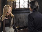 LIVE Susan Haskell and Michael Easton in a scene that airs the week of May 3 2010 on ABC Daytime's 'One Life to Live' 'One Life to Live' airs...