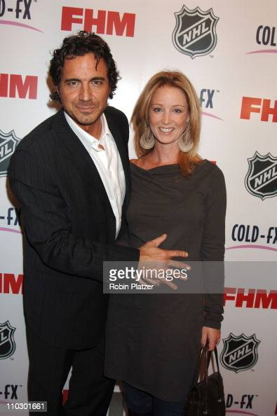 Susan Haskell and Thorsten Kaye during The NHL and FHM Magazine Celebrate The 20062007 Hockey Season at Marquee in New York City New York United...