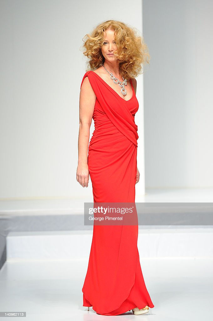 <a gi-track='captionPersonalityLinkClicked' href=/galleries/search?phrase=Susan+Haskell&family=editorial&specificpeople=5040821 ng-click='$event.stopPropagation()'>Susan Haskell</a> walks the runway during the Heart Truth fashion show at The Carlu on March 8, 2012 in Toronto, Canada.