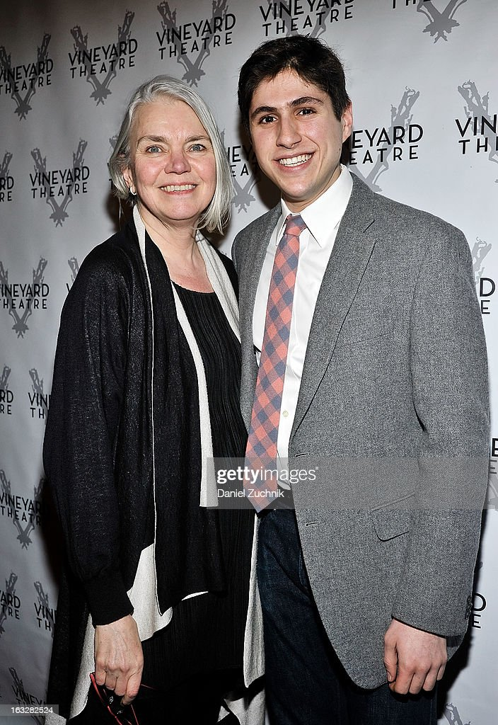 Susan Hilferty and Gabriel Weissman attend the off Broadway opening night of 'The North Pool' at Vineyard Theatre on March 6, 2013 in New York City.