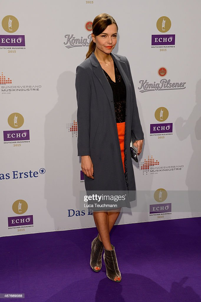 Susan Hoecke attends the Echo Award 2015 - Red Carpet Arrivals on March 26, 2015 in Berlin, Germany.