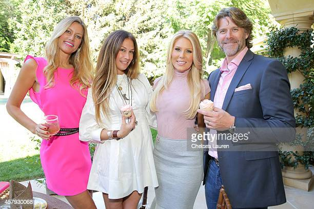 Susan Holmes McKagan AJ Celi Gretchen Rossi and Slade Smiley attend The How 2 Girl think pink ladies luncheon on October 26 2014 at the Sixx...