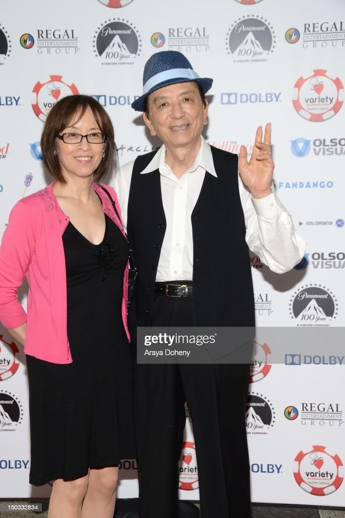 Susan Hong and James Hong attend the 2nd Annual Variety Charity Texas Hold 'Em Tournament Casino Games at Paramount Studios on August 15 2012 in...