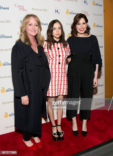 Susan Johnson Bel Powley and Vanessa Bayer attends the 'Carrie Pilby' New York screening at Landmark Sunshine Cinema on March 23 2017 in New York City