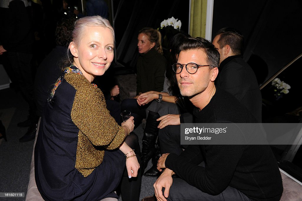 Susan Joy (L) and Ben Bashen attend American Express at Mercedes Benz Fashion Week Fall 2013 at Lincoln Center on February 11, 2013 in New York City.