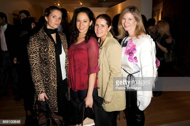 Susan Kilkenny Jennifer Lane Tara Greeley and Risa Levine attend VILLAGE GREEN and INTERVIEW CoHost the Opening of 'Green Light Go' at Gallery 151 on...